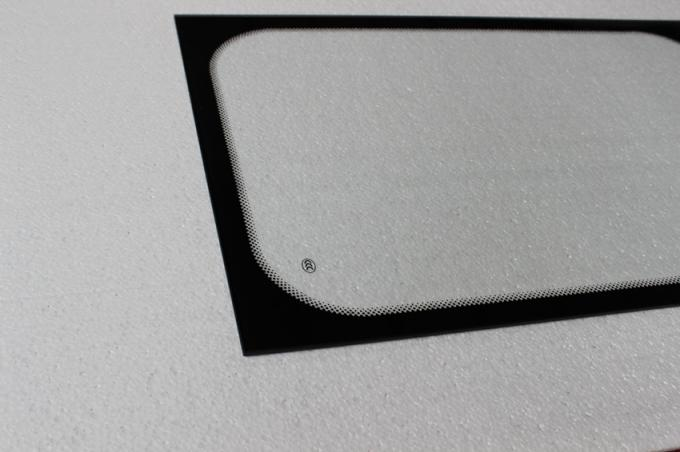 5MM Printing Heat Tempered Glass Black Rim For Bus Window