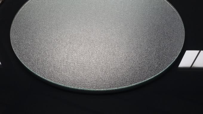 8MM Clear Round Nashiji Heat Tempered Glass For Occasional Table Top