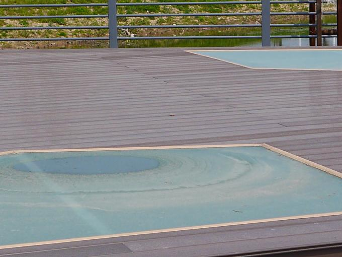 Hollow WPC Composite Decking 140X25mm With Waterproof Firproof UV Protected