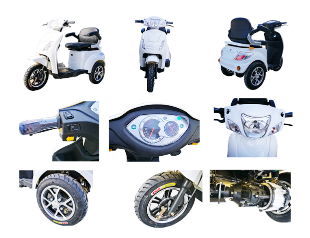 Adult 3 Wheel Electric Mobility Scooter Bike Trike Physically Challenged Trike Mobility Scooter
