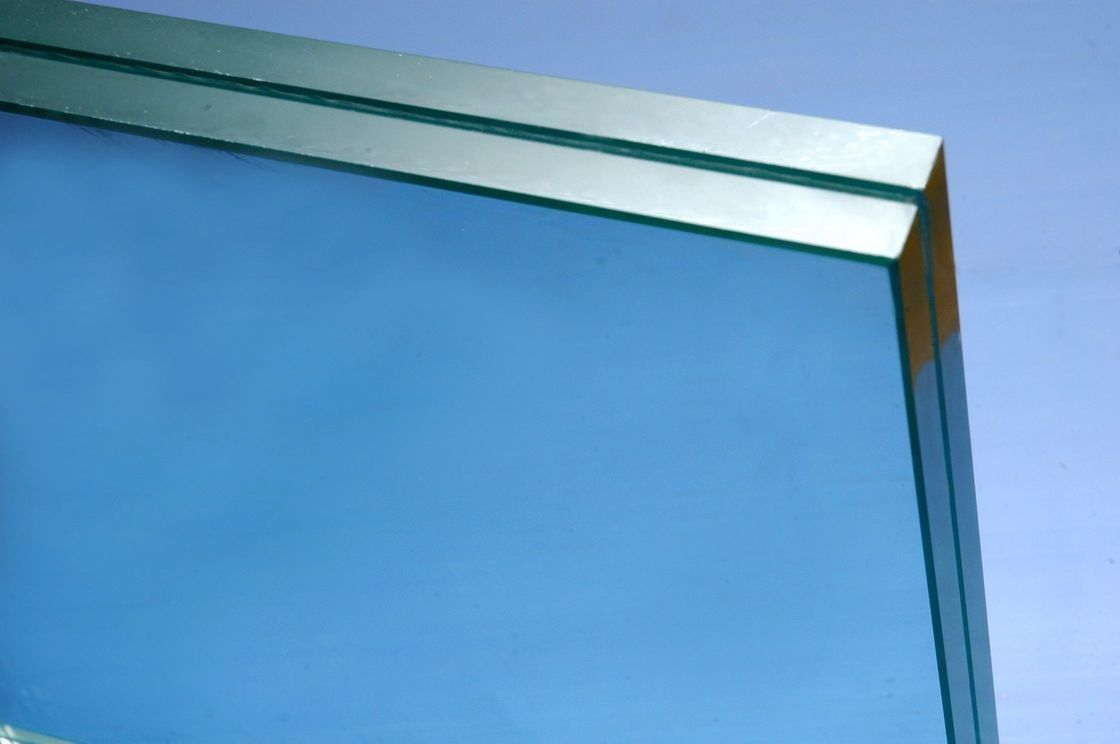 6+0.76 PVB +6MM Clear Tempered Laminated Glass Light Green For Building