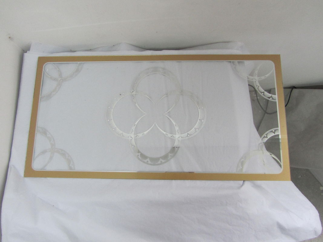 2MM Printing Golden And Silver Tempered Toughened Laminated Glass For Decoration