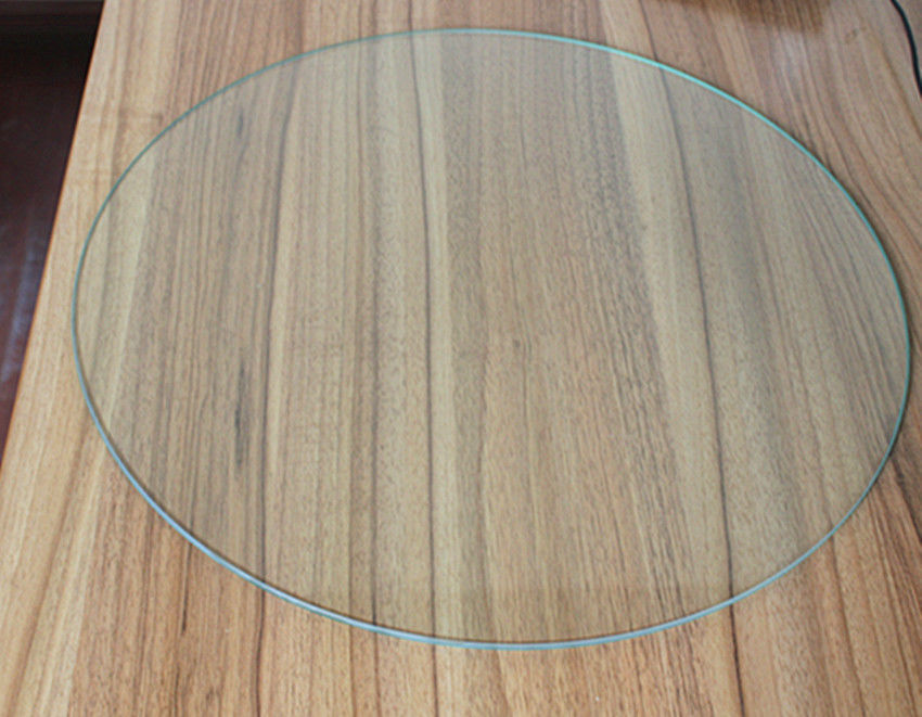 Safety 4MM Round Tempered Glass , Furniture Clear Toughened Glass