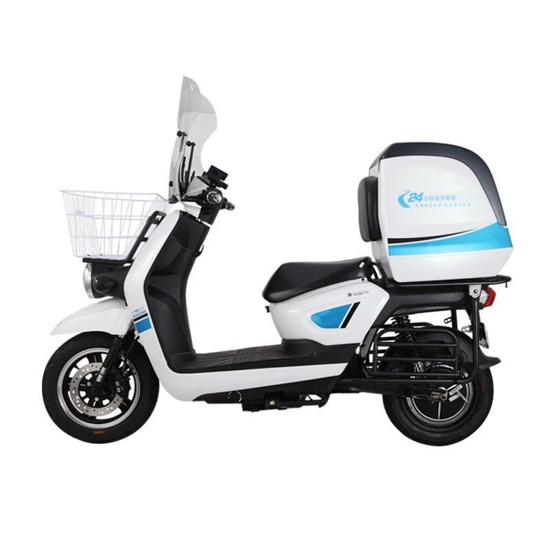 Fastest Electric Moped Scooter Lead Acid Battery For Food Delivery 1200-3000w