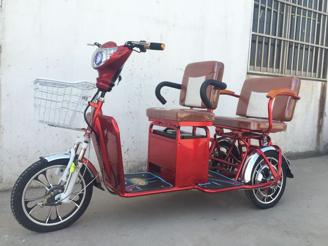 Two Persons 3 Wheel Electric Tricycle Scooter 800W Brushless Steel Frame
