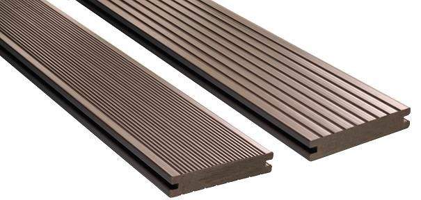 Wood Plastic Composite WPC Composite Decking Customised Length igh Strength