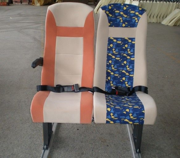 Custom Simple Foam Coach Comfortable Bus Seats Chair Steel Frame