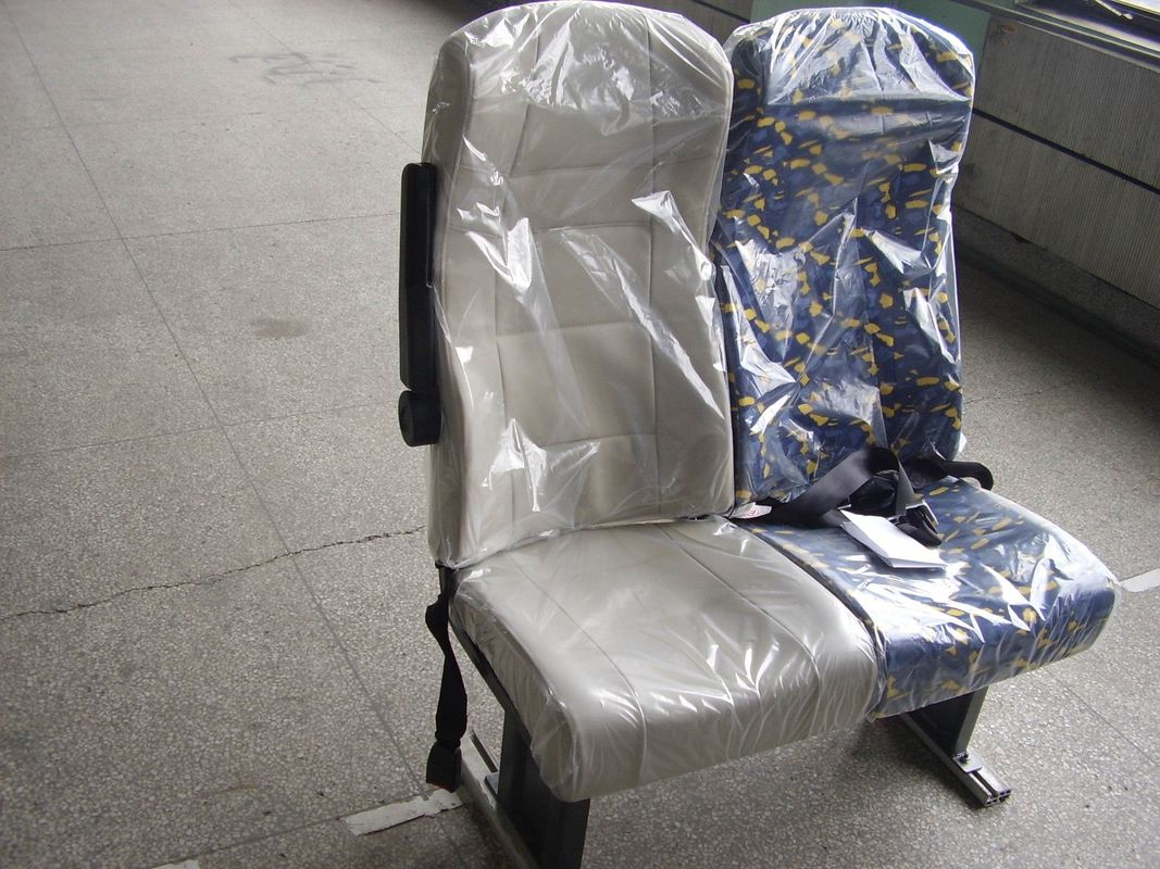 Super Steel Frame Luxury Coach Seats With Armrest And Seat Belt
