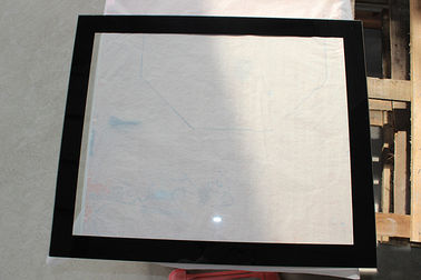 China 5MM Printing Heat Tempered Glass Black Rim For Bus Window factory