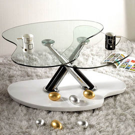 China 10MM Clear Shaped  Custom Tempered Glass For Occasional Furniture factory