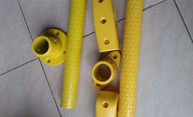 City Bus Spare Parts Steel Bus Handrail Yellow With Akzon Powder